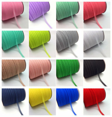 "10yds 5/8"" 15mm Bilateral Handicrafts Embroidered Net Lace Trim Ribbon Bow Craft"
