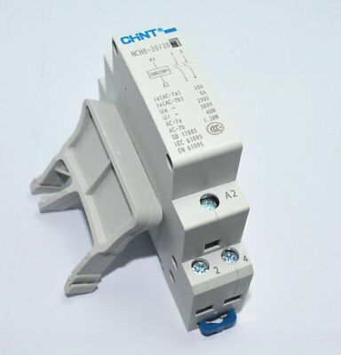 2P 20A 220V/230V 2NO 50/60HZ Din Rail Household AC Contactor Relay with Fixed
