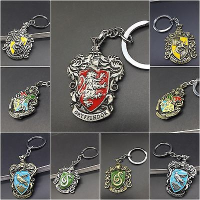 Harry Potter Fantastic Beasts Keychain Voldermort Hermione House Badge Keyring