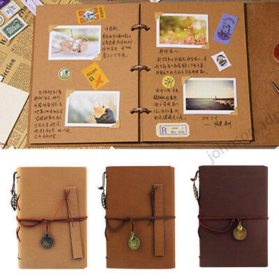Vintage DIY Scrapbook Card Paper Photo Album Photo Family Kid Memory Love Gift