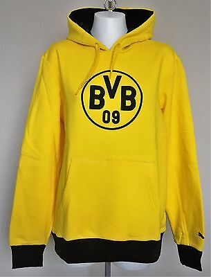 Borussia Dortmund 2016/17 Yellow Bvb Badge Hoody By Puma Size Large Brand New