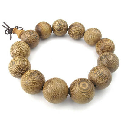 Jewelry Men's Bracelet Tibetan Buddhist Sandal Pearl Prayer Mala wood color Y3I6