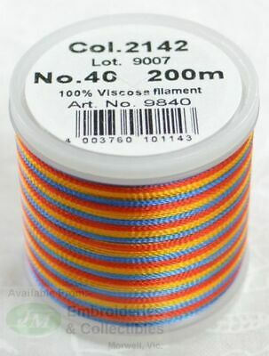 Madeira Rayon 40 Machine Embroidery Thread 200m MULTI-COLOR 2142