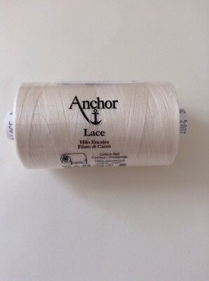 900m Reel Of Anchor Lace 50 Ecru 926 100% Cotton For Lace Making/Crochet/Tatting