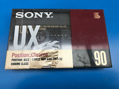 Vintage Audio Cassette SONY UX 90 * Rare From Italy 1990 * Balladeur WALKMAN