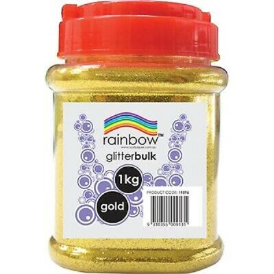 Gold Glitter Craft Bulk 1Kg In Jar Rainbow - Free Post