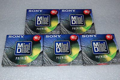 5 x Sony MDW-74B  Minidiscs neu, Minidisc blank, sealed Made in Japan