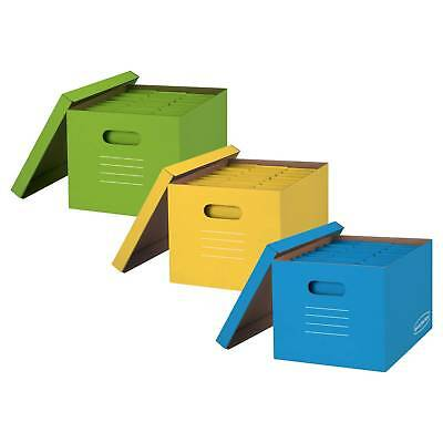 Bankers Boxes® Storage Boxes, 3ct - Multicolor