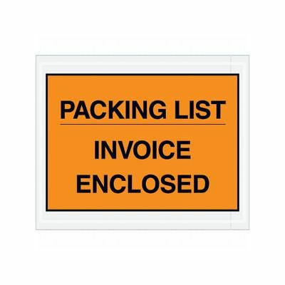 "Box Packaging ""Packing List/Invoice Enclosed"" Envelope, 2 Mil Poly, Or, 1000/cs"
