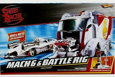 Hot Wheels Speed Racer MACH 6 & Battle Rig Factory Sealed New 2007
