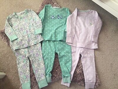 Next Baby Girls Bunny Snuggle Pjs 12-18 Months