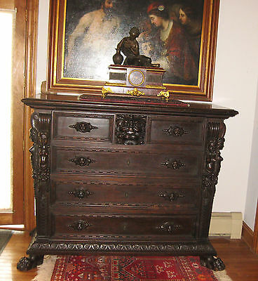ITALIAN  RENAUSSANCE  CARVED  CHEST  EARLY  1800s