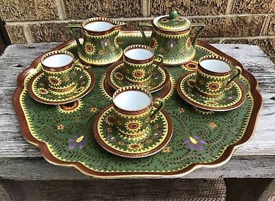 Rare Old Jugendstil Pfeiffer & Lowenstein Imperial Austria P&L Porcelain Tea Set