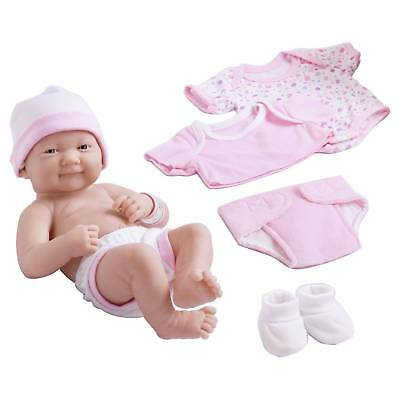 "JC Toys La Newborn 14"" All-Vinyl Baby Doll and 8 Piece Deluxe Pink Lafayette ..."