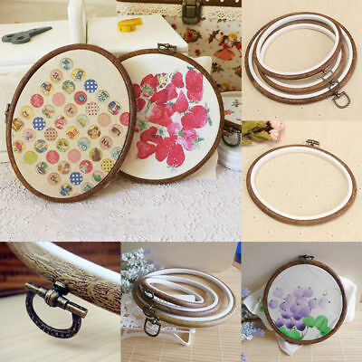3 SIze Round Oval Wooden Embroidery Cross Stitch Ring Hoop Frame SewingCraft DIY