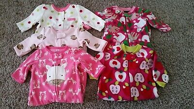 Baby Girl's 0-3 Months Carter's, Children's Place Fleece Footed Sleepers