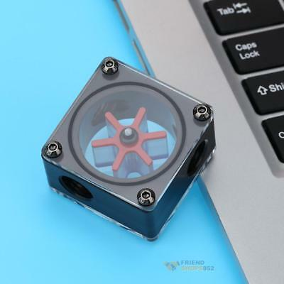 G1/4 Port 3 Impeller Water Flow Meter Indicator for PC Water Cooling System