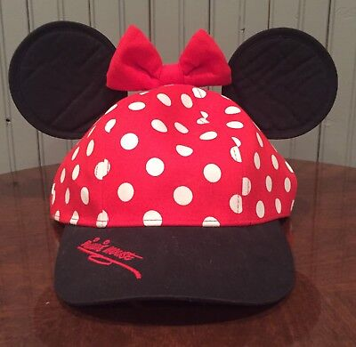 Minnie Mouse Walt Disney World Snap Back Hat With Ears And Bow Disney Parks