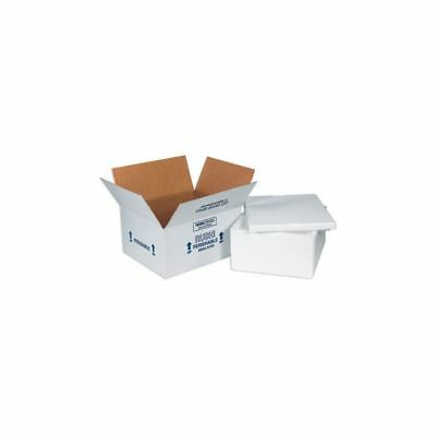 "Box Packaging IInsulated Shipping Container, 8"" x 6"" x 4 1/4"", Kraft 12/Case"