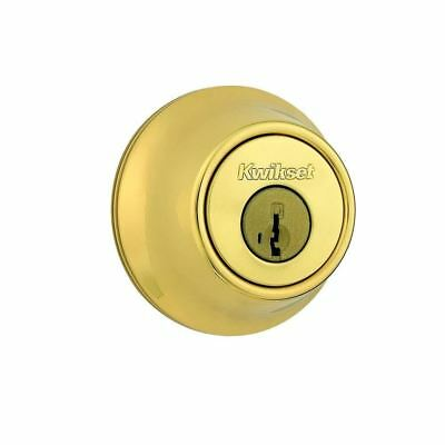 Kwikset 660 Series Single Cylinder Deadbolt featuring SmartKey  Polished Brass
