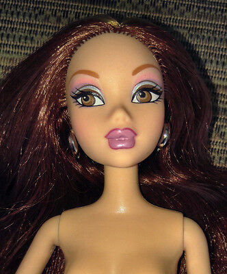 Barbie My Scene Doll Nude - Chelsea - Long Reddish Brown Hair - Cute