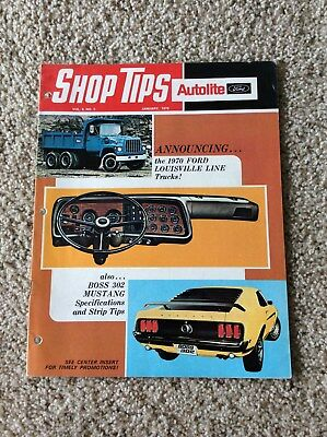 1970 ford shop tips magazine with Boss 302 Mustang information