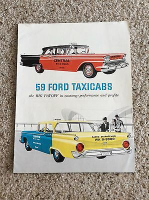 1959 ford original Taxicabs dealership showroom sales handout