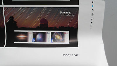 Limited to 750 Stargazing Imperforate Sheet. (Number 354) With Certificate.