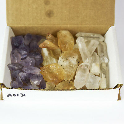 3 Crystal Collection 1Lb Lots Natural Points Chunks Citrine Quartz Amethyst