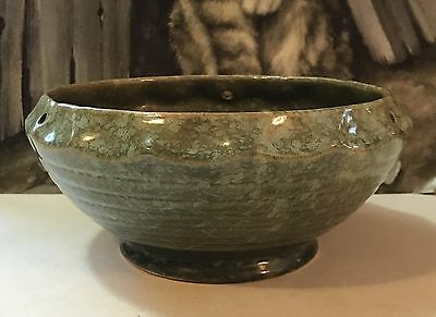 Vintage Brush McCoy Pottery Green Hanging Planter 167-8 USA
