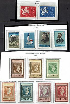 Greece  Stamps 3 Sets   -Europa-Red Cross- Centenary Greek Stamps-   greece27