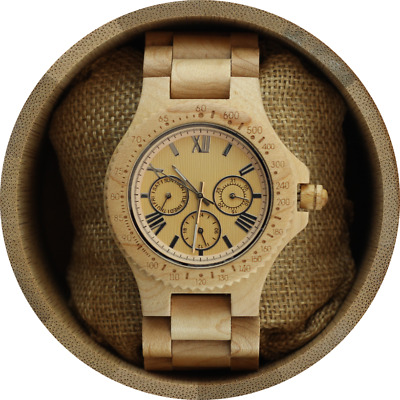 Angie Wood Creations Maple Men's Wood Watch,Personalized wood watch