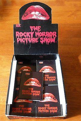 Rocky Horror Picture Show Trading Card Packs x 9 Inc Point of Sale Box 1980