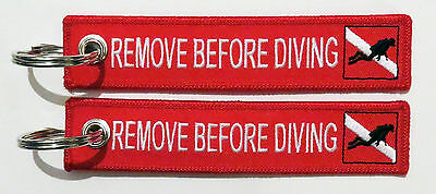 Keyring Diving Remove Before Diving for scuba divers equipment safety cap ring