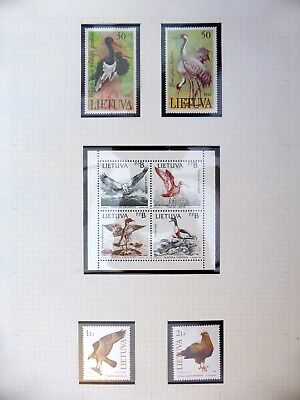 LITHUANIA Birds U/M NB3389
