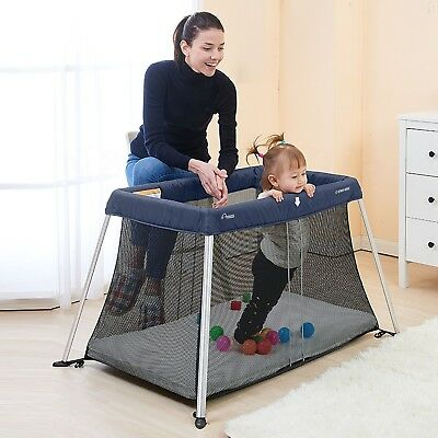 Star Kidz Amico Light Travel Cot Portacot - Navy