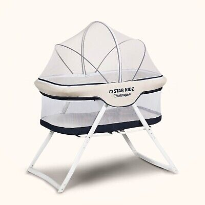 Star Kidz Compagno Baby Portable Bassinet Blue