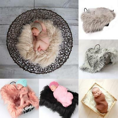 Blanket Rug Newborn Baby Wool Photography Photo Props Costume Backdrop 50*60cm