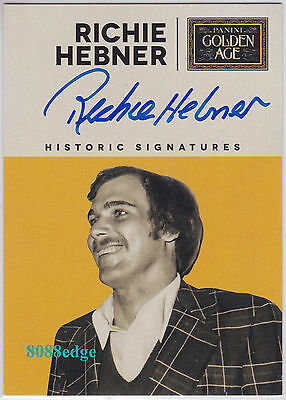 """2014 Panini Golden Age Auto: Richie Hebner - On Card Autograph """"the Gravedigger"""""""