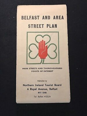 Belfast And Area Street Plan - Map 1960