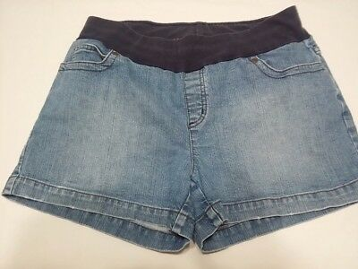 Oh Baby by Motherhood Blue Denim Jean Maternity Shorts Size Large