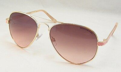 NWT Juicy Couture Sunglasses AJCN44007Z Aviator Gold & Pink 100% UV Protect $98