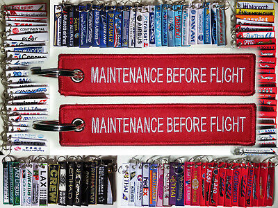 Keyring MAINTENANCE BEFORE FLIGHT! for AIRCRAFT MECHANIC Technician keychain tag
