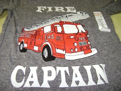 Boys  Fire  Captain  T- Shirt   Size  3T New  L@@k
