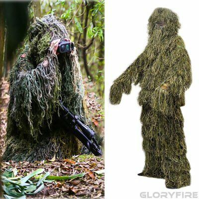 Camo Ghillie Suit Woodland Forest Camouflage Hunting Halloween Costume XL/XXL