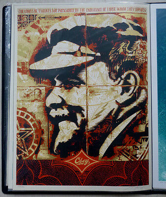 Shepard Fairey (OBEY) - Original Siebdruck - Lenin Record, Sign.nummeriert