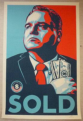 Shepard Fairey (OBEY) - Großer original Siebdruck - SOLD, Sign.nummeriert