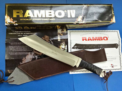 Rambo First Blood Part Iv Licensed Sign 7Mm Survival Rescue Hunting Camp Knife