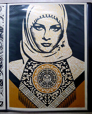 Shepard Fairey, OBEY - Orig.Siebdruck, Arab Woman Gold, Sign.num.