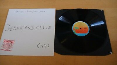 Derek And Clive Live Peter Cook Dudley Moore Vinyl Record Album LP 1976